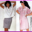 Retro 80s Knit Wear Separates Sz 12-16 Uncut McCall's 9521 Dress Skirt and Top Bubblegum Vintage Set