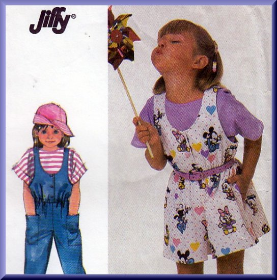 Funky Child's Romper and Jumpsuit Sz 5-6x Uncut Simplicity 7926 Casual Playtime Playground Outfit