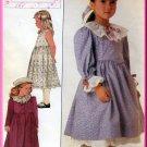 Sweet Girl's Dress Petticoat and Coat Sz 6 Uncut Simplicity 8191 Retro 80s Lillian August Collection