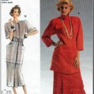 Women's Topstitched Jacket and Pleated Skirt Sz 8-40 Uncut Burda 6006 Safari Utilitarian Crisp Linen