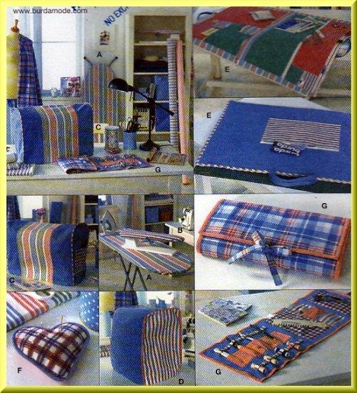 Sewing Accessories Iron Sleeve Board Burda Sewing Pattern 7980 Serger Machine Pin Cushion Carryall