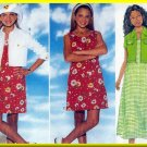 Fun Girl's Summer Dress and Jacket Size 12-14 Butterick Sewing Pattern 4838 Funky Blossom Outfit