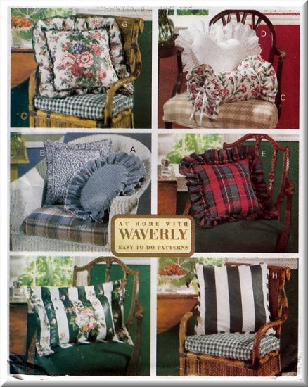Fancy Throw Pillows Cushions Butterick Sewing Pattern 6097 Waverly Bedroom Shams Heart Neckroll