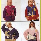 Fun Applique Girl's Fleece Jacket Size Xs McCall's Sewing Pattern 7894 Playful Shapes Color Block