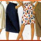 Classic Women's Skirts in 4 Lengths Sz 8-18 Uncut New Look 6335 Basic Slim Straight Skirt Waistband