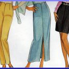 Elegant Women's Trousers Pants Skirt Sz 8-18 Uncut New Look 6537 Chic Stylish Notched V-front Darts