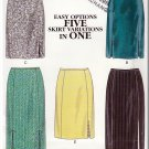 Alluring Slits Women's Skirts in 5 Styles Sz 8-18 Uncut New Look 6809 Narrow Waistband Slim Darts