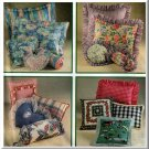 Home Dec Design Decorated Pillows Simplicity Sewing Pattern 9243 Ruffled Flanged Shams Cushions