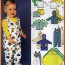Warm Babies' Layette Set Sz XXS-L Simplicity Sewing Pattern 9275 Hoodies Rompers Jacket Blanket