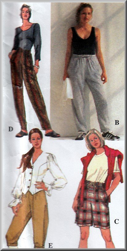 Women's Casual Pants and Shorts Sz XS-M Uncut Simplicity 9283 Jodphur Knickers Jogging Sweatpants
