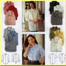 Women's Classic Blouses and Button Front Shirts Sz 12-16 Uncut Simplicity 9818 Cotton Poplin Gingham