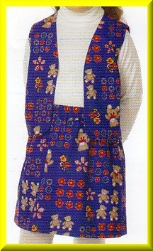 Simple Basic Girls' Vest Skirt Sz 5-6x Butterick Sewing Pattern 5134 Casual Playtime School Clothes