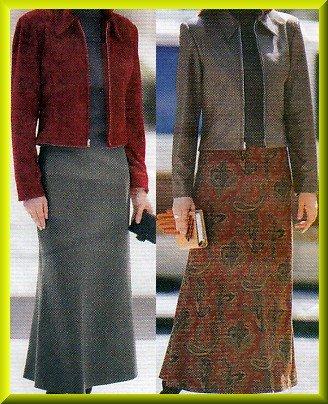 Women's Long Flowing Bias Skirt Sz 6-10 Uncut Butterick 5693 Classic Collar Princess Seam Zip Jacket