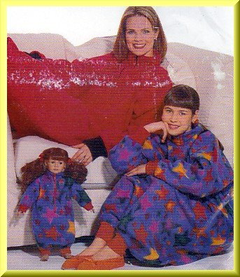 Mother Daughter Snuggly Lounge Sack All Sizes Uncut Butterick 5775 Cozy Warm Fleece Sack Crafts Doll