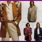 Women's Unique Creative Decorative Jacket Sz 8-12 Uncut McCall's 6959 Wing Collar Fancy Artsy Yoke