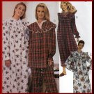 Modest Traditional Women's Sleepwear Nightgown Sz XS-M Uncut McCall's 8545 Ruffled Yoke and Sleeves