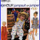 Easy Casual Toddlers' Jumper Outfit Sz 0.5-2 Simplicity Sewing Pattern 9526 Basic Jumpsuit Knit Top