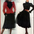 Elegant YSL Dress Set Sz 10 Uncut Vogue 1196 Full Skirt Ruffled Blouse Jacket by Yves Saint Laurent