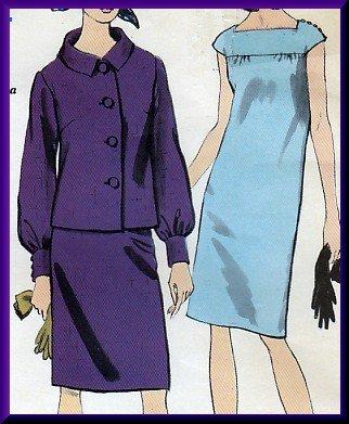 Elegant Misses' Dress Jacket Suit Sz 14 Vogue Sewing Pattern