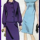Elegant Misses' Dress Jacket Suit Sz 14 Vogue Sewing Pattern 7042 Jackie O Sophisticated Chic
