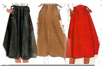 80s Secretary Flared Skirt Sz M McCall's Sewing Pattern 8107 Retro Indie Professional Schoolteacher