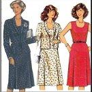 Secretary Schoolteacher Dress 80s Sz 14.5-26.5 Burda Sewing Pattern 7951 Shawl Collar Jacket