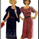 Misses' Professional Outfit Sz 16-44 Burda Sewing Pattern 8418 Secretary Dress Cardigan Jacket