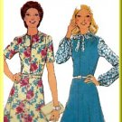 Pretty Retro 70s Secretary Dress Sz 18 Style Sewing Pattern 1163 Chic Panels French Darts Neck Tie