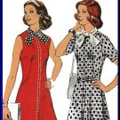 Feminine Chic Ascot Tie Dress Sz 18.5 Style Sewing Pattern 4977 Retro 70s Scarf Neck Secretary Dress