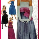 Divine 80s Glam Evening Gown Sz 14 Simplicity Sewing Pattern 6211 Strapless Ruffles Princess Dress