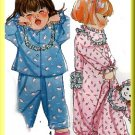 Cute Sleep Pajamas Toddler's Onesies Simplicity Sewing Pattern 9432 Nighttime Doll Pajama Bag