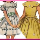 Girls' Scallop Collar Puffy Dress Sz 12 Simplicity Sewing Pattern 5371 Sweet Retro 1-Piece Dress