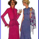Elegant Hostess Gown Ruffled Jacket Sz 14 Simplicity Sewing Pattern 8260 Frilly Topper Evening Dress