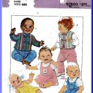 Babies' Casual Outfit Sz 12M Style Sewing Pattern 3665 Quilted Jacket Vest Romper Dungarees Pinafore