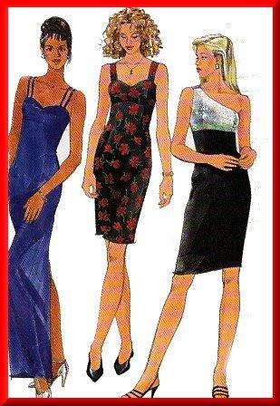 Elegant 1-Shoulder Fancy Dress Sz 10-14 Simplicity Sewing Pattern 7652 Empire Bodice Evening Gown