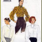 New Wave Glam Blouse Sz 12-16 Vogue Sewing Pattern 9342 Retro Chic Ascot Asymmetrical Ruched Collar