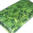 Marbelized Green English Goatskin Pocketbook Checkbook Wallet by Tilley Made in Canada Vintage Retro