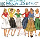 Retro Feminine Flared Skirts Sz 12 McCall's Sewing Pattern 5470 Full Circular Ruffles 70s Knit Tops