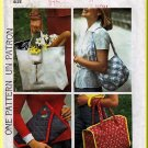 Retro Set of Bags 4 styles Simplicity Sewing Pattern 7004 Shopper Tote Envelope Clutch Shoulder Bag