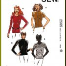 Fitted Stretch Knit Tops Sz XS-XL Kwik Sew Sewing Pattern 2565 T-shirts Long Short Sleeves Zip Front