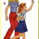 Butterick Sewing Pattern 4674 Sz 4 Vintage Girl's Knit Top Skirt Pants Casual Fun Basic Coordinates