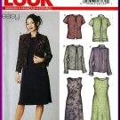 New Look Sewing Pattern 6201 Sz 10-22 Easy Cardigan Jacket 4 Styles and Sleeveless Dress 2 Lengths