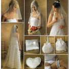 Simplicity Sewing Pattern 4216 O/S Bridal Wedding Accessories Veil Capelet Purse Ring Pillow Garter