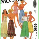 McCall's Sewing Pattern 6310 Sz 6-8 Vintage Misses' Lingerie Petticoats Half Slips Camisole Panties