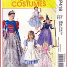 McCall's Sewing Pattern 418 Sz 8-22 Misses' Halloween Costumes Witch Fairy Godmother Wizard of Oz