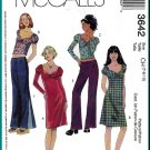 McCall's Sewing Pattern 3642 Sz 7-10 Girls' Funky Knit Tops Peasant  A-Line Dress Hip Hugger Pants