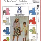 McCall's Sewing Pattern 8627 Sz 4-6 Girls' Jacket and Dress Outfit Princess Seam Dress Bolero Topper