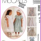 McCall's Sewing Pattern 8652 Sz 6-8 Fancy Sundress Flower Girl Dress Empire Bodice Tulip Sleeves