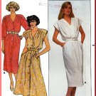 Butterick Sewing Pattern 3810 Sz 10 Misses' Vintage 80s Dress Pleats Extended Shoulders Button Front