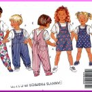 Butterick Sewing Pattern 5396 Sz 4-6 Toddlers' Jumpsuit Jumper Bib Front Overalls Knit T-shirt Tops